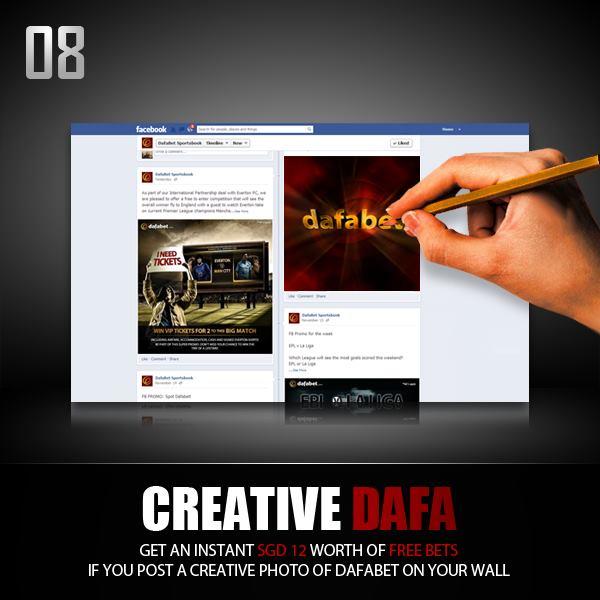 8 days left on dafabet christmas countdown 2012 - CREATIVE DAFA promo