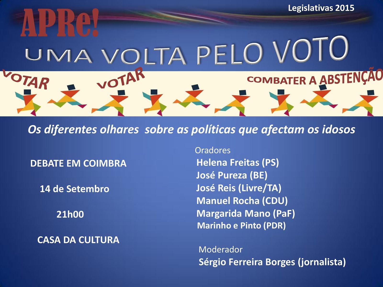 Uma volta pelo VOTO, sessão pública de esclarecimento promovida pela APRe! em Coimbra
