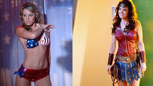 """Erica Durance en un gag para la serie """"Smallville"""" (2011)"""