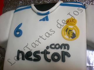 Tarta Camiseta Real Madrid. Las Tartas de Jose. Castellón.