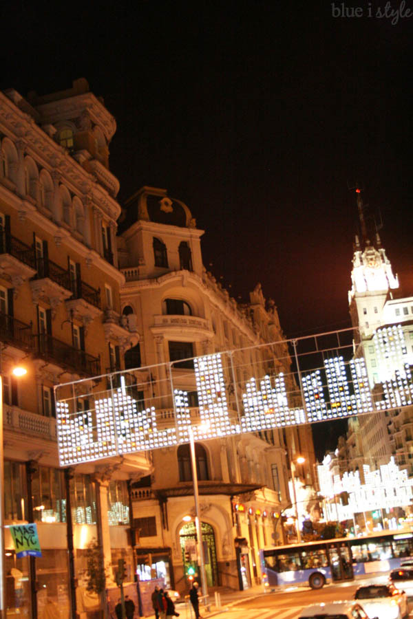 Christmas Lights in Madrid Spain
