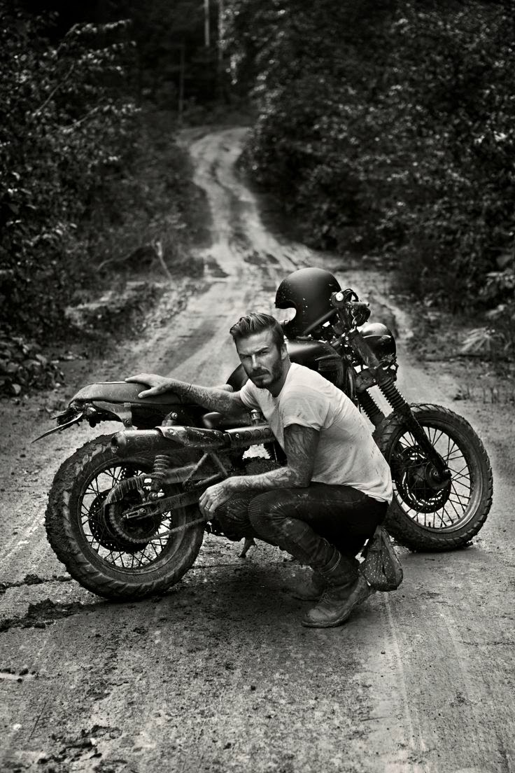 David Beckham In Amazon Rain Forrest With Motorcycle