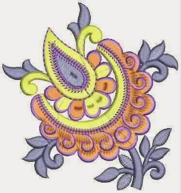 Antieke borduurwerk appliekwerk