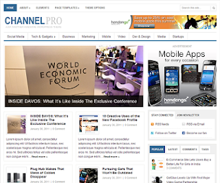 ChannelPro Blogger Template