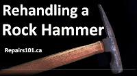 rock hammer close up