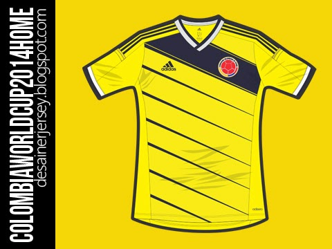 desainerjersey  Colombia National Football Team FIFA World Cup ... be173e92c