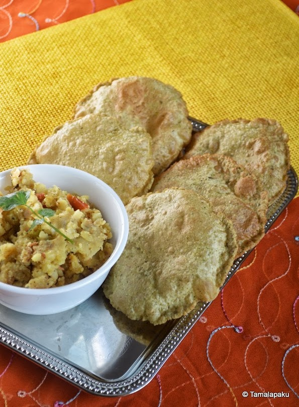 Bedmi Puri (With Moong Dal)