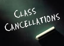 Last Class on 8th December until further notice!