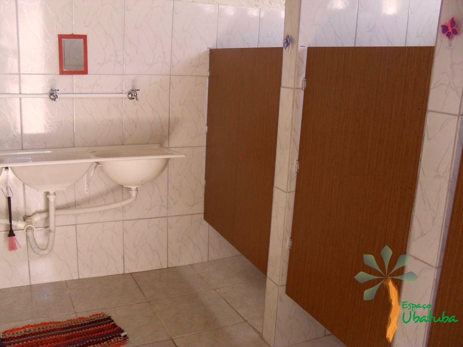 Banheiro Feminino e Masculino do Espaço Ubatuba