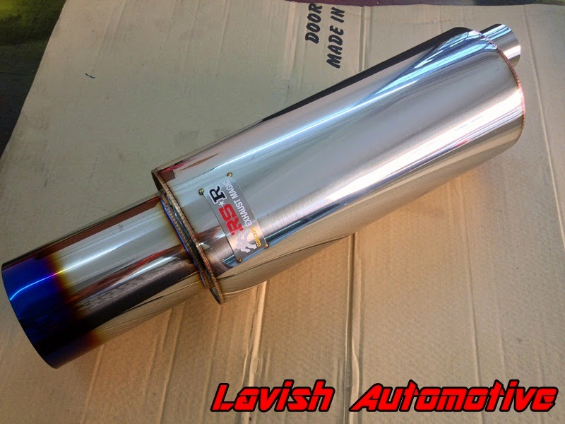 Royal exhaust rs r high performance s flow with titanium colour tips