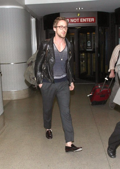 Ryan Gosling Sockless