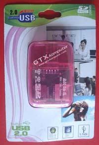 Card Reader 4 Slot Transparan - Image by www.gtx-komputer.com