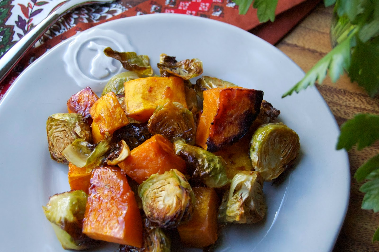Maple Chili Butternut Squash & Brussels Sprouts | www.kettlercuisine.com
