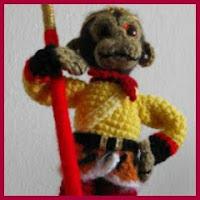 Rey mono amigurumi