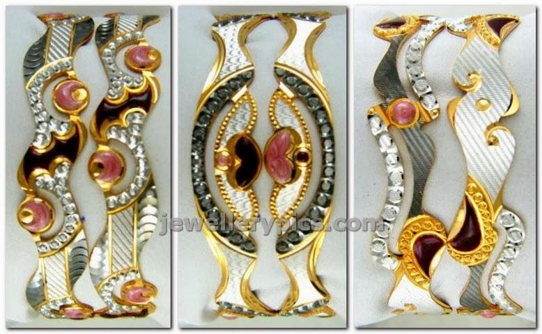 gold rhodium bangle catalogue