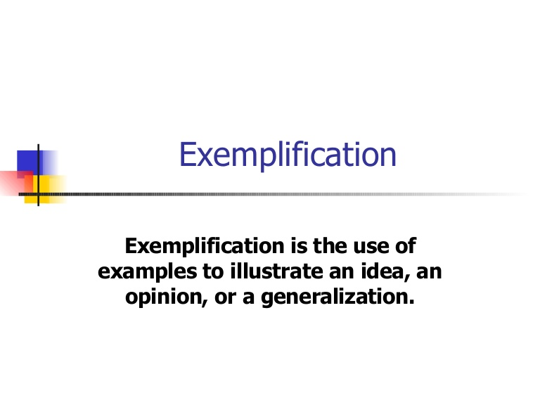 exemplification essay sueing