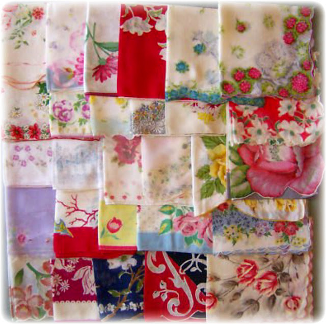 Crafts with Vintage Handkerchiefs