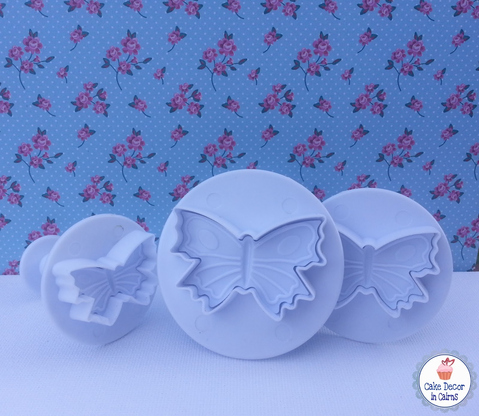 How to use Butterfly Fondant Gumpaste Plunger cutters. Beginners Cake Decorating Free tutorial Instructions. Make your own Cupcake and cake toppers.