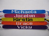 Friendship Bracelet Name Patterns