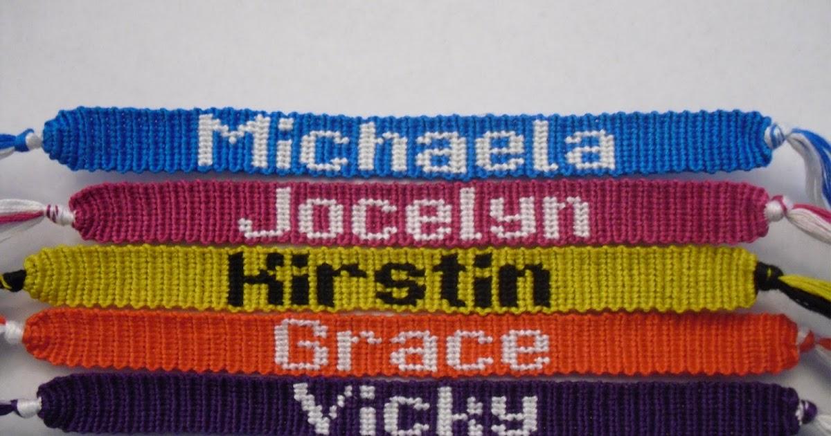 Bracelet Tool Galleries: Friendship Bracelet Name Patterns