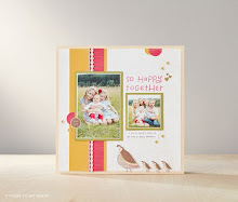 April  Stamp of the Month Scrapbook Page