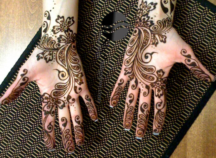 Beautifull and latest mehndi design dresses design for gilrs 2012 - Latest Arabic Mehndi Designs Pictures New Arbi Mehndi