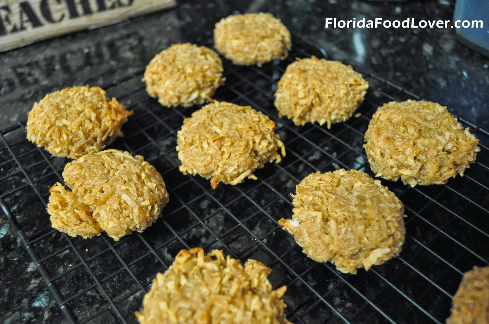 Salted Caramel Coconut Macaroons Recipe — Dishmaps