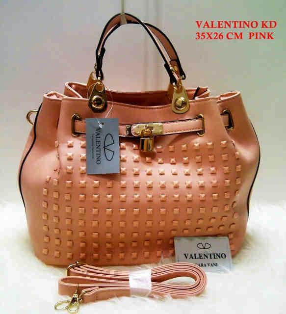 Tas Valentino terbaru Tas Valentino KD pink biru merah gold hitam khaki pink supplier eceran grosir tas harga murah