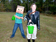 When Minecraft Steve and Katniss come for a visit.