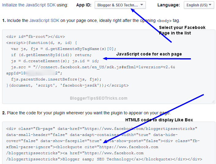 adding facebook like box responsive for blogger