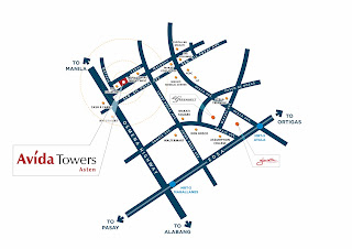 Avida Towers Asten Makati Location Map