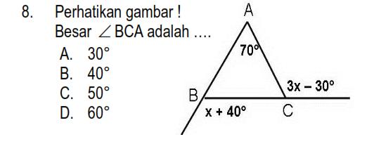 Latihan Garis Dan Sudut Matematika