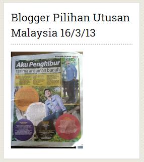 Blogger Pilihan utusan Malaysia 16/3/2013