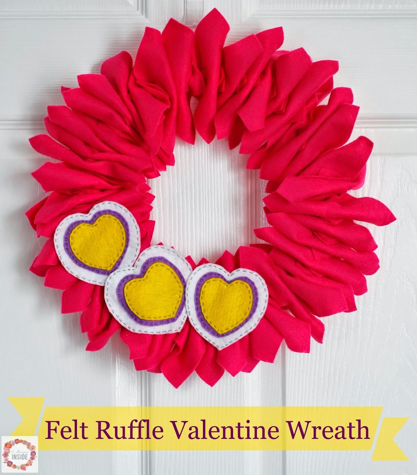 http://www.aglimpseinsideblog.com/2015/01/felt-ruffle-valentine-wreath.html