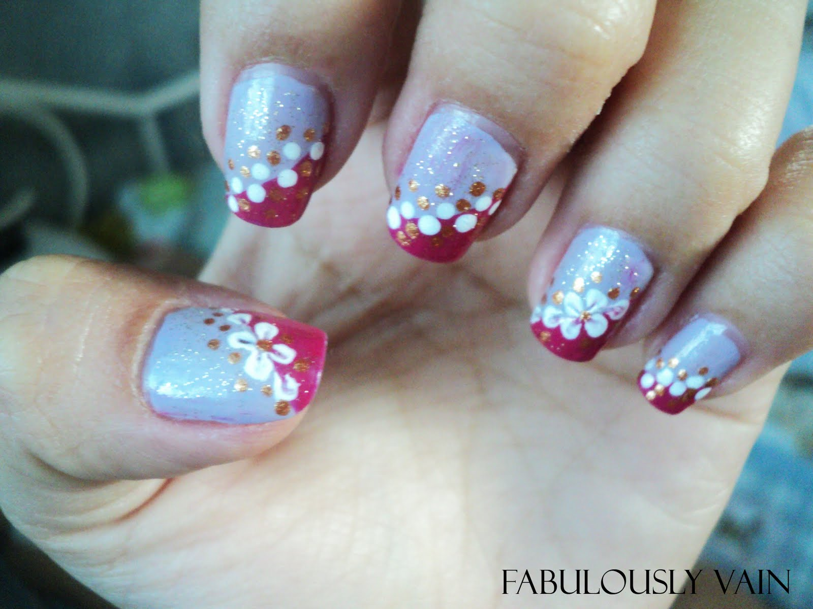 Epitome of Color and Style: NOTW: Violet Flower Nail Art