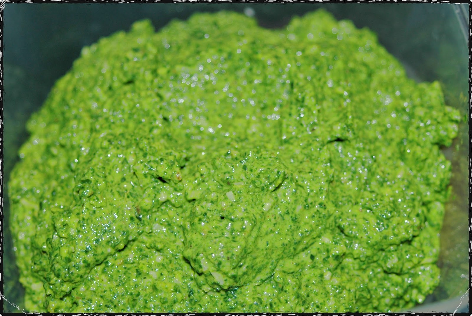 Witchery in the Kitchen: Winter Greens Pesto Topped with Cilantro Lime ...