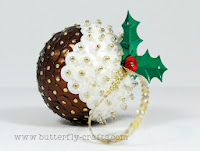 handmade Christmas Pudding Tree Decoration