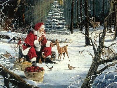 Božićne slike čestitke besplatne pozadine za desktop djed Mraz
