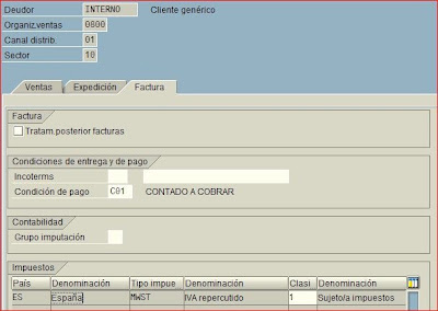 Datos de ventas de cliente SAP
