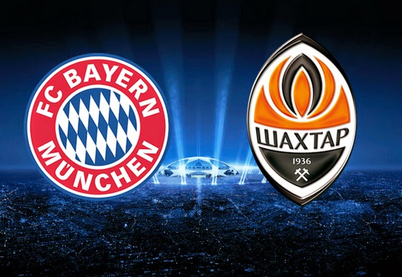 Shakhtar Donetsk vs Bayern Munchen UEFA Champions League 2015 Live Streaming