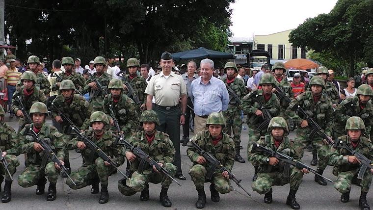 Tropas del Batallón Cisneros Refuerzan la seguridad en el Municipio de La Tebaida