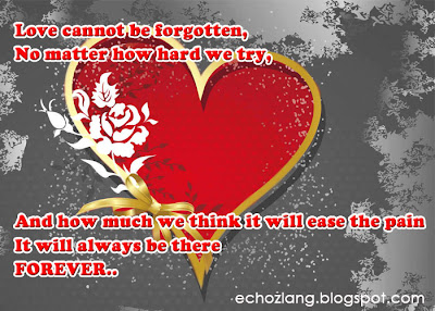 Love cannot be forgotten, no matter how hard we try