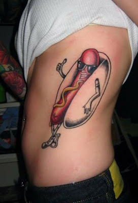 Cool Hot Dog Tattoos Seen On www.coolpicturegallery.us