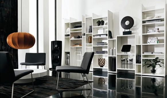 Dise o de muebles con estilo para una sala de estar oscura - Diseno de muebles de sala ...