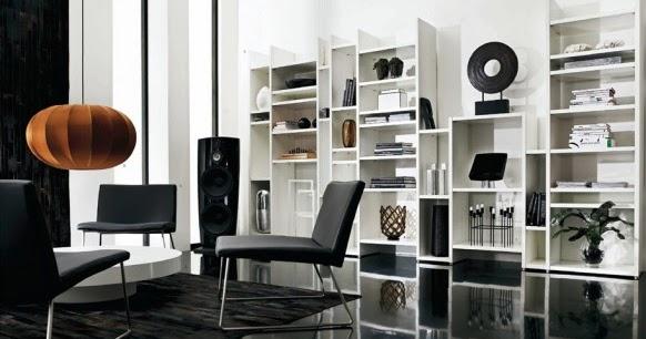 Dise o de muebles con estilo para una sala de estar oscura - Muebles con estilo ...