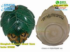 Mangkok Keramik Glasir Daun