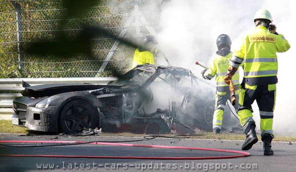 Mercedes-benz SLS AMG got fire while testing