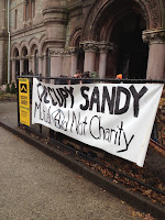 Sign that says Occupy Sandy