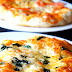 Vegetarian Pizzas and Crunchy Bruschetta with Raisans, Cheese and Apricot sauce