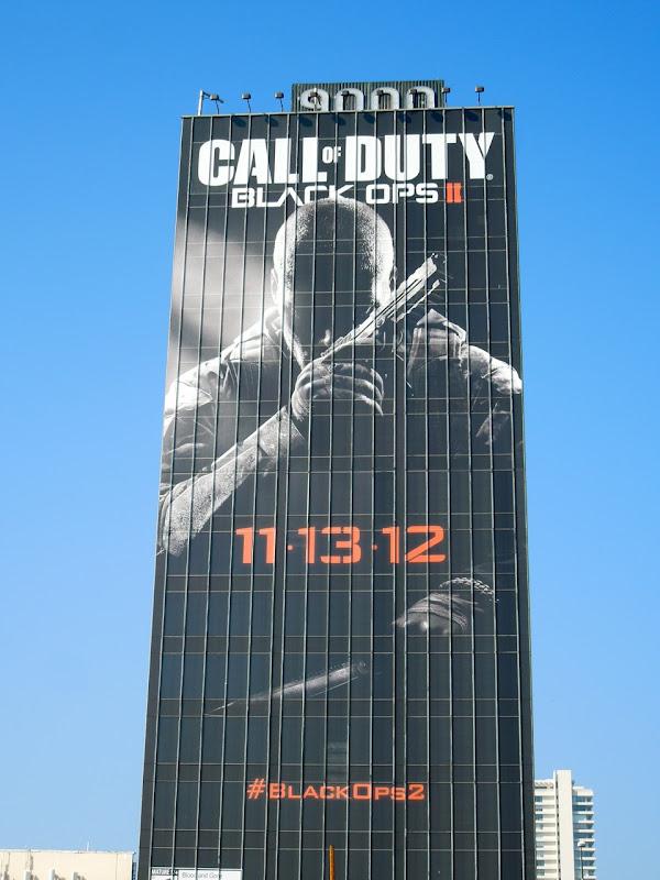 Call of Duty Black Ops II video game billboard